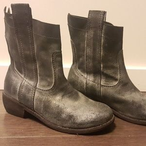 Joes Leather slip on boot 8 leather distressed
